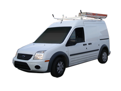 Double Lock Down Aluminum Ladder Rack - Transit Connect